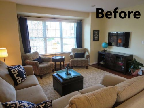 family room Before 2a